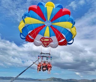 Triple Flyer Parasailing Excursion in Coron, Palawan | With Unlimited Use of Clear Kayak