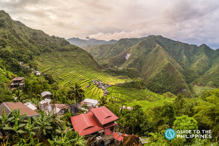 Aerial view of Batad's towering rice terraces