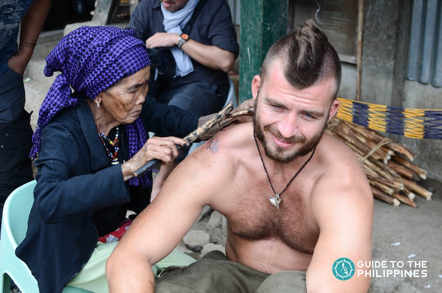 Kalinga's Master Tattooist Whang-od Oggay in Mountain Province, Philippines
