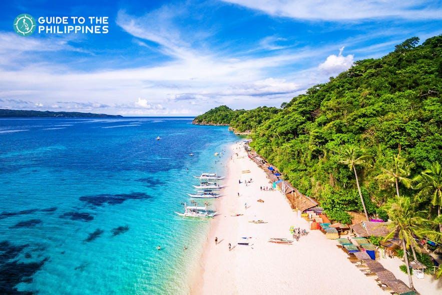Resorts along White Beach in Aklan, Boracay