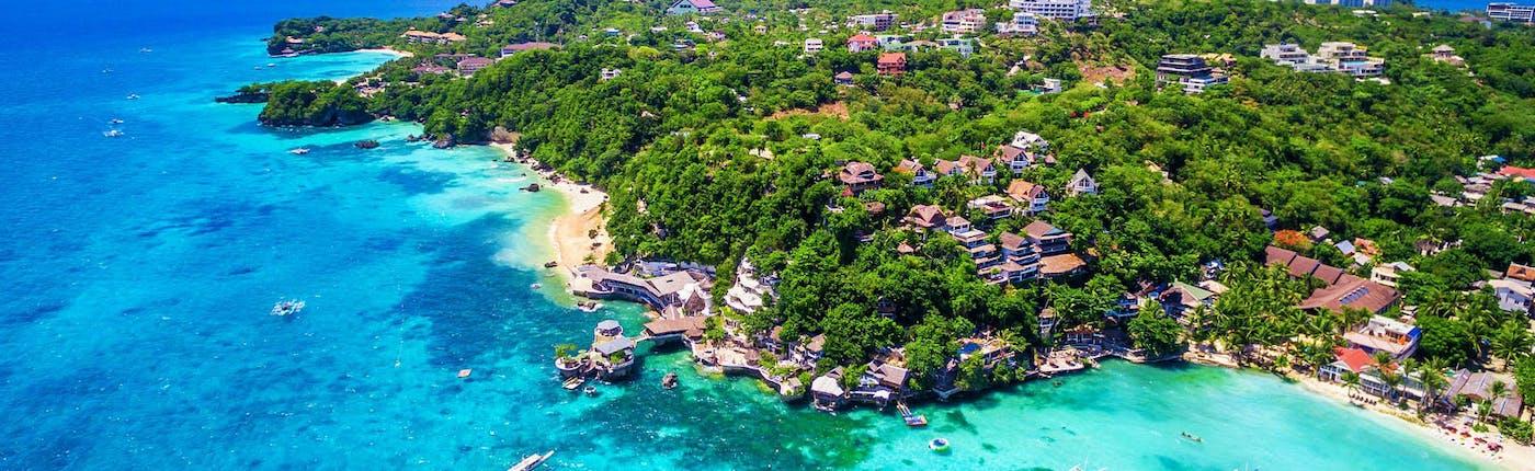 Aerial shot of Boracay's White Beach