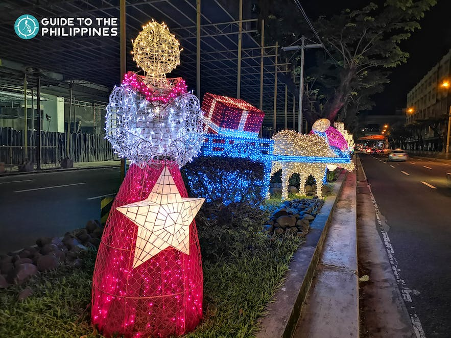 Street Christmas lights along Buendia, Makati City