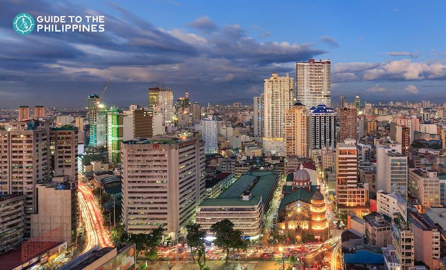 Cityscape of Manila at night