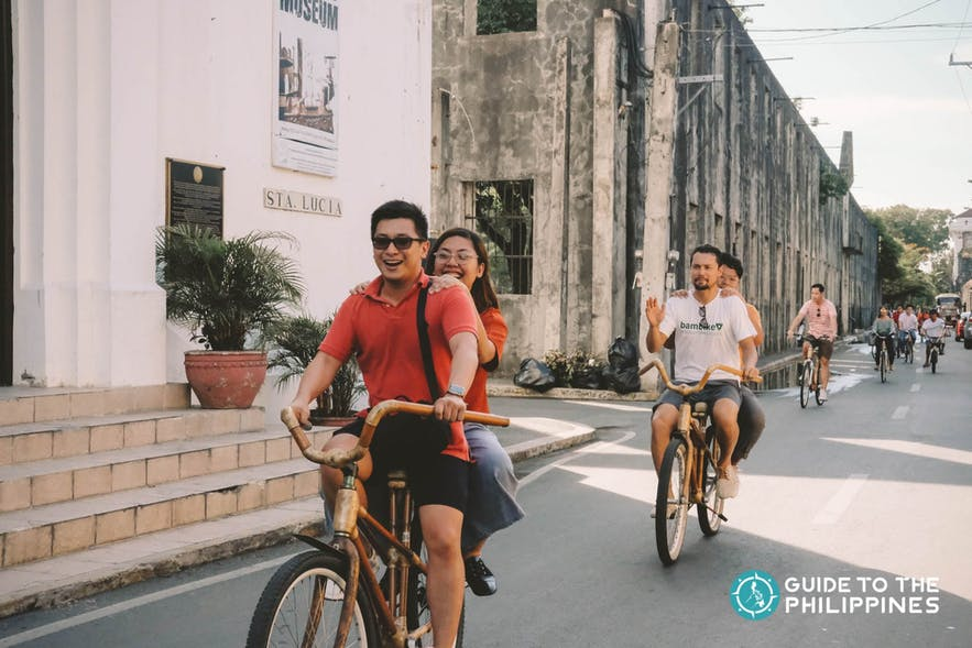 Bamboo bike tour in Intramuros, Manila