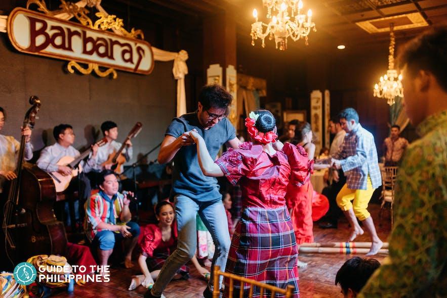 Tinikling dance at Barbara's Restaurant in Intramuros, Manila