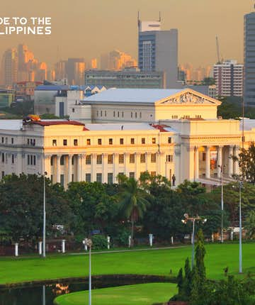 National Museum of the Philippines in Manila at dusk