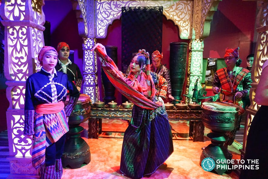 Cultural dance at the Lakbay Museo museum