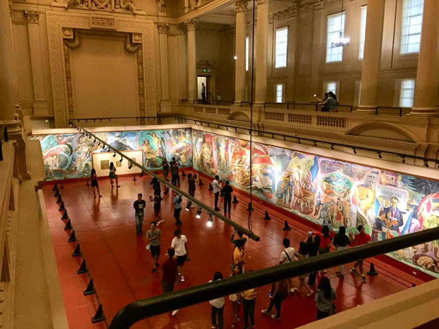 "Top view of National Museum's collection of national artist Carlos ""Botong"" Francisco's greatest works"
