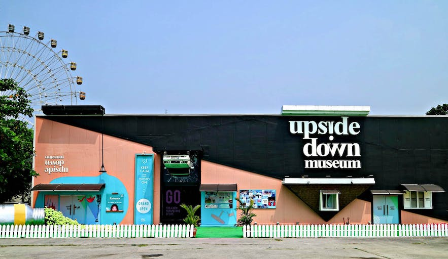 Entrance of the Upside Down Museum