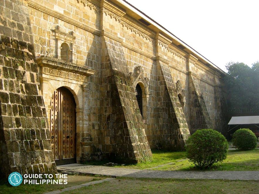Side view of Miagao church in Iloilo