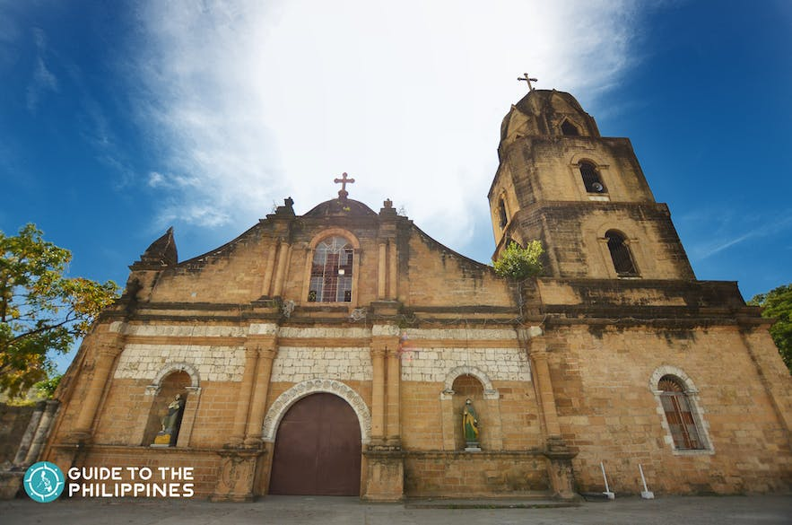 Front view of Guimbal Church (Parish of St. Nicholas of Tolentino) in Iloilo