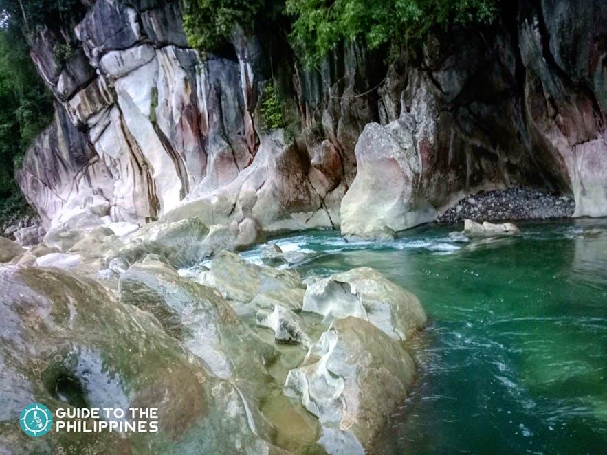 Rock formations at Tinipak River in Tanay, Rizal