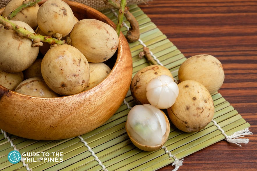 Lanzones is a ttropical fruit abundantly available in Camiguin island