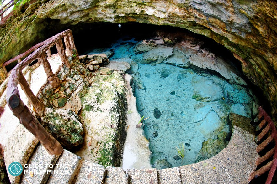 Clear waters inside Ogtong cave in Bantayan, Cebu
