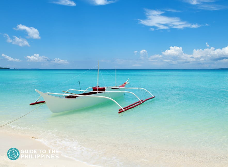 Powdery white sand and turquoise waters of Bantayan Island