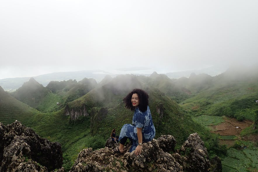 Traveler hiked up the Osmeña Peak in Cebu, Philippines