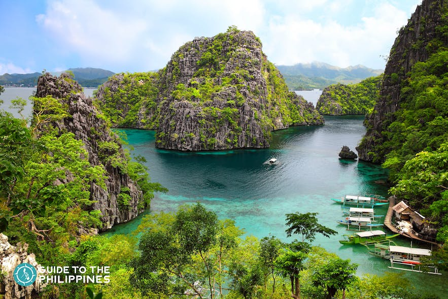 Landscape of Coron in Palawan, Philippines