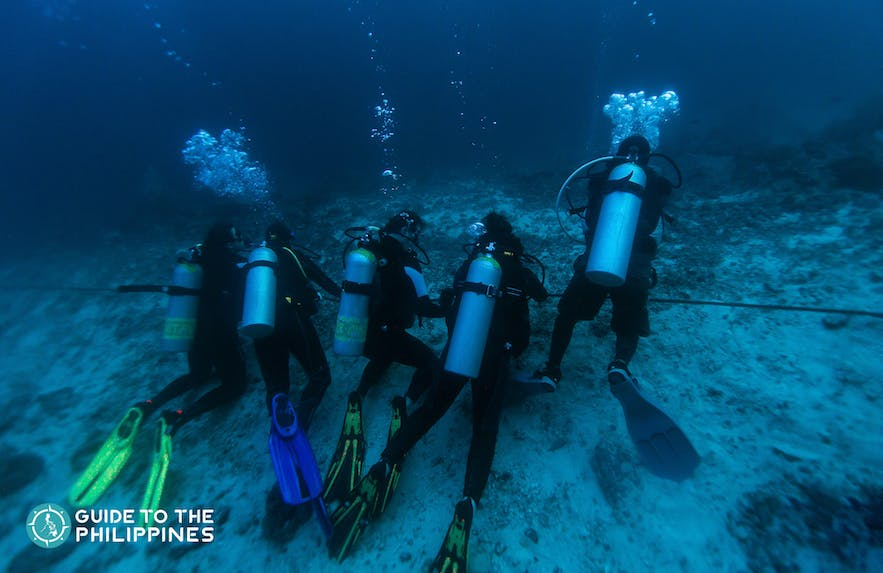 Divers getting ready to explore