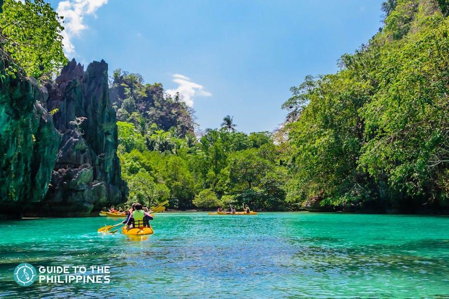 Kayaking in El Nido's Big Lagoon