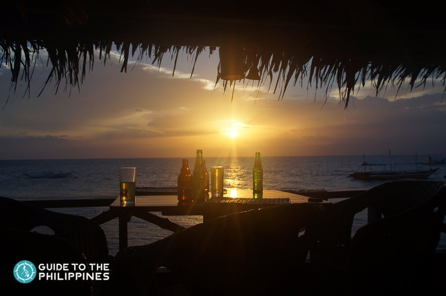 Beer and drinks by the beaches of Moalboal, Cebu