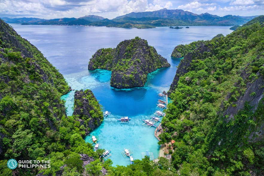 Aerial view of Kayangan Lake in Coron, Palawan