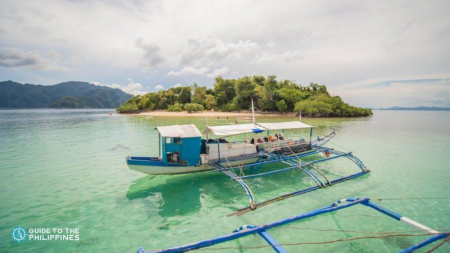 Boat at the CYC Beach on Coron, Palawan