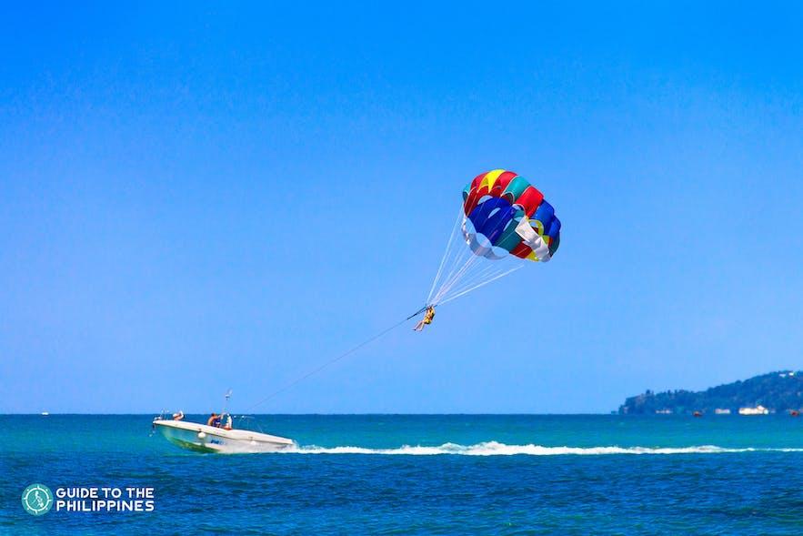 Enjoy the adrenaline rush of parasailing