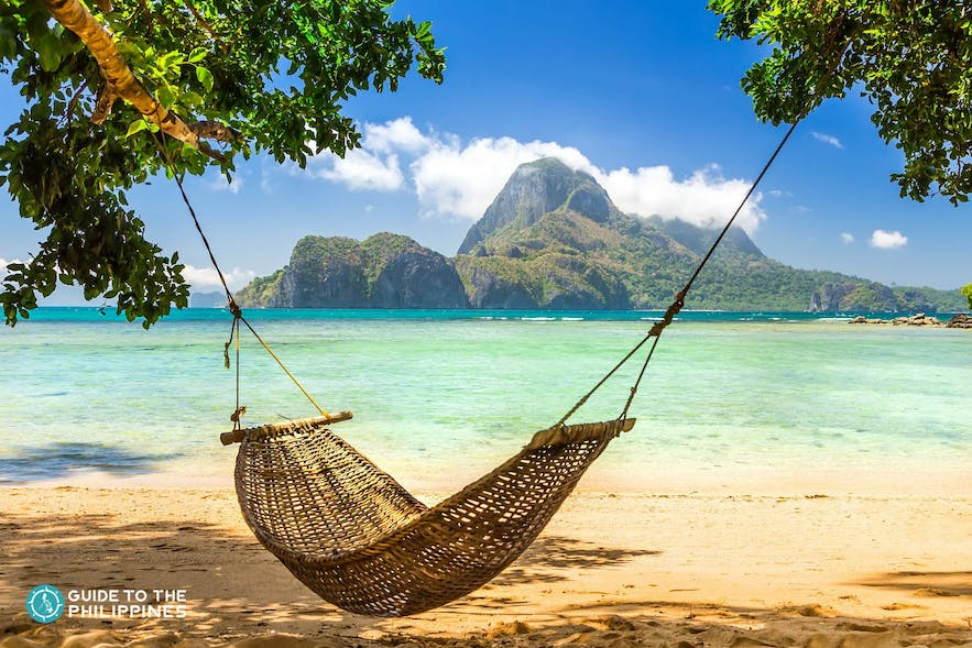 Hammock at Cabo Beach in Coron, Palawan
