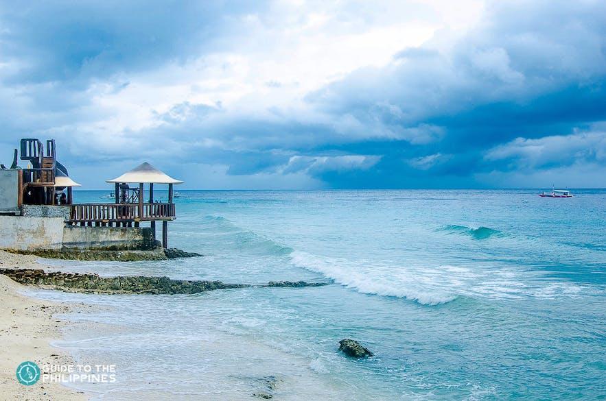 Sunny beach day in Oslob, Cebu