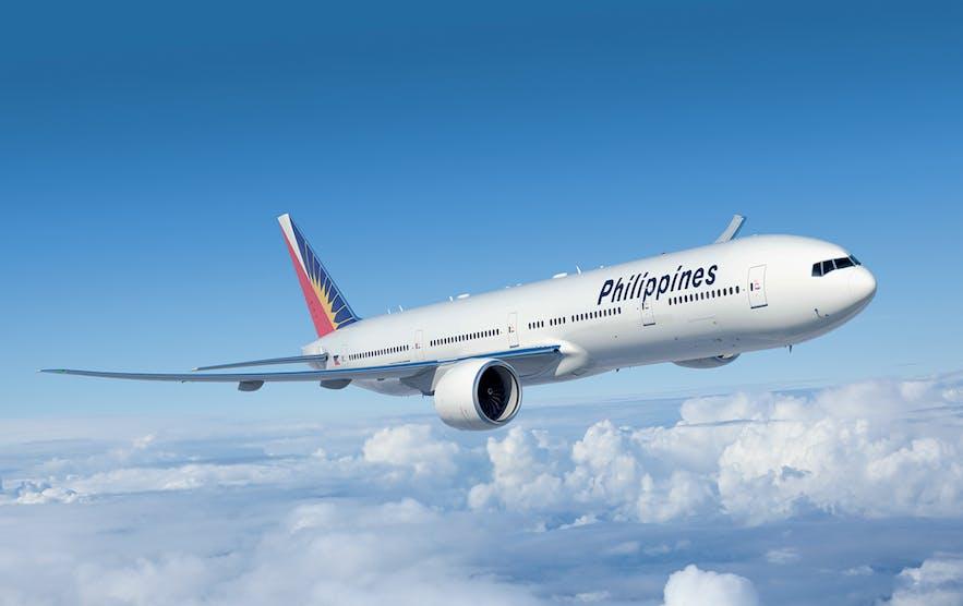 Travel to Puerto Princesa via air on Philippine Airlines' boeing N777