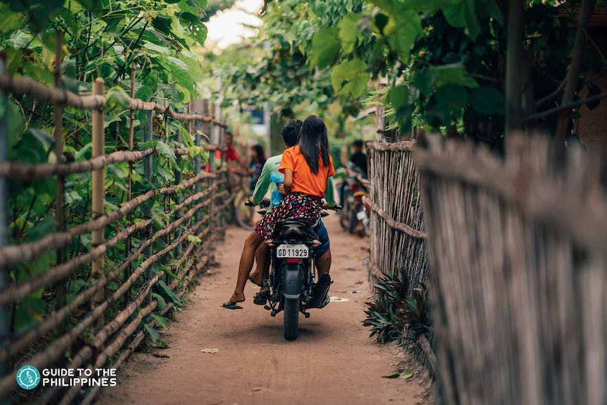 Get around San Vicente by renting motorcycles or habal-habal