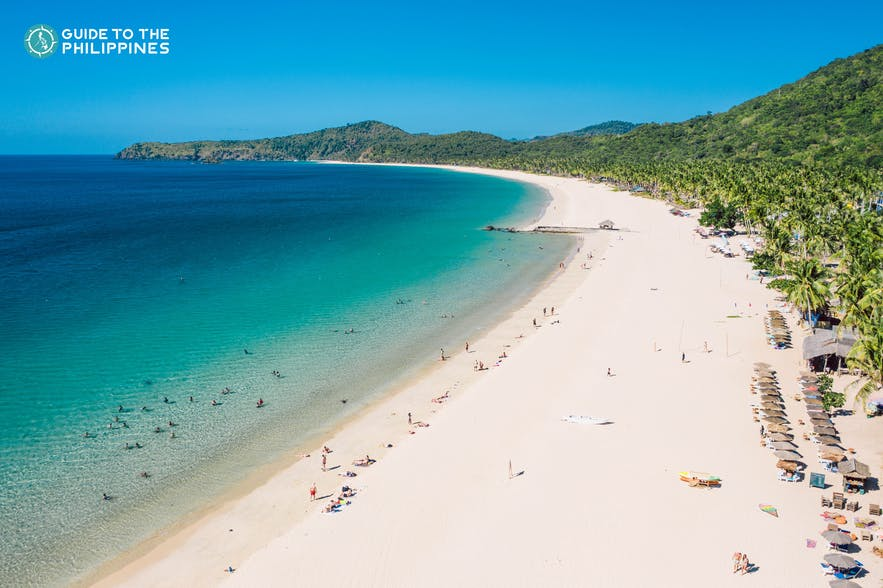 Nacpan Beach in El Nido, Palawan