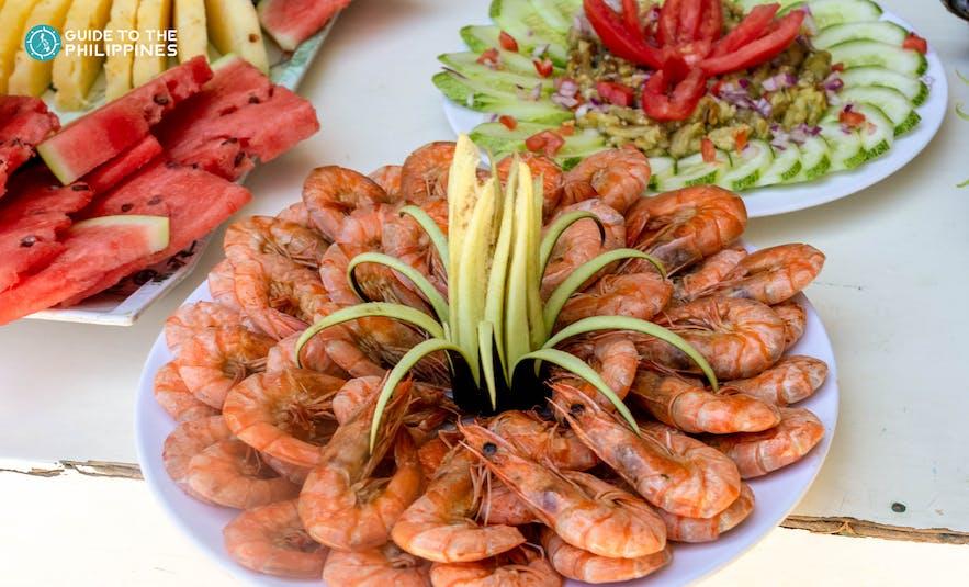 Seafood in El Nido, Palawan