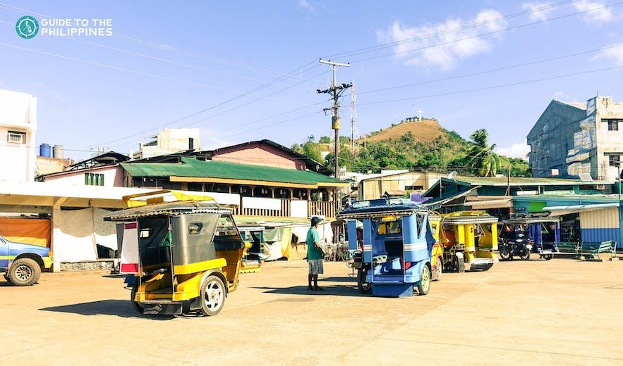 Tricyles in Coron, Palawan