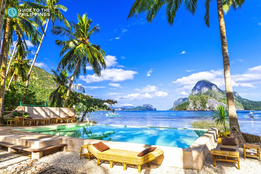 Luxury beach resort in El Nido, Palawan