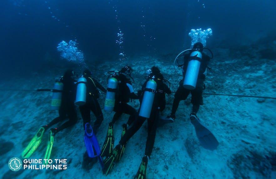 Group of divers in Mactan, Cebu