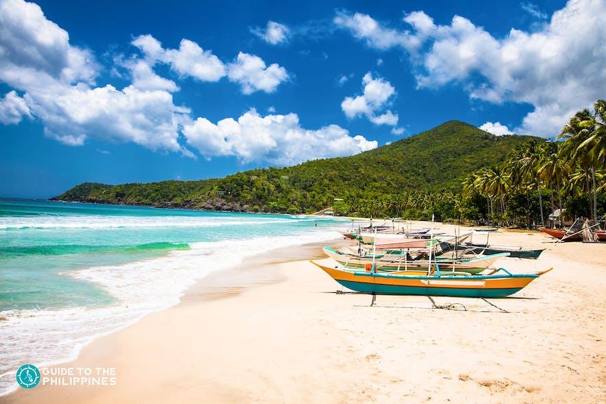 Sabang Beach in Puerto Princesa, Palawan