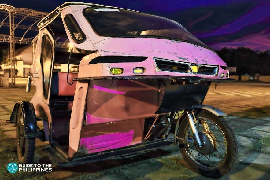 Parked tricycle at Puerto Princesa Baywalk