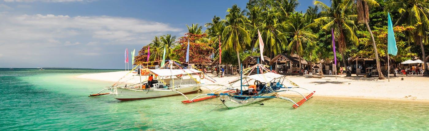 Boats at Pandan Island in Honda Bay, Palawan