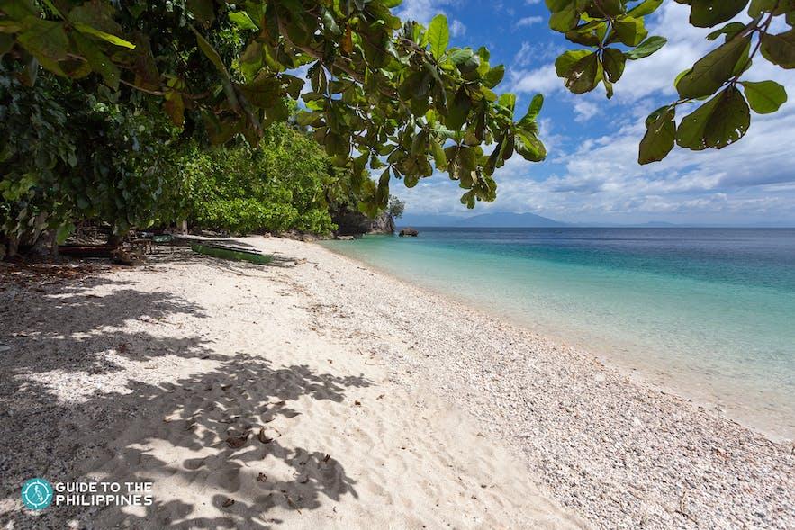 Quiet beach of Samal Island, Davao