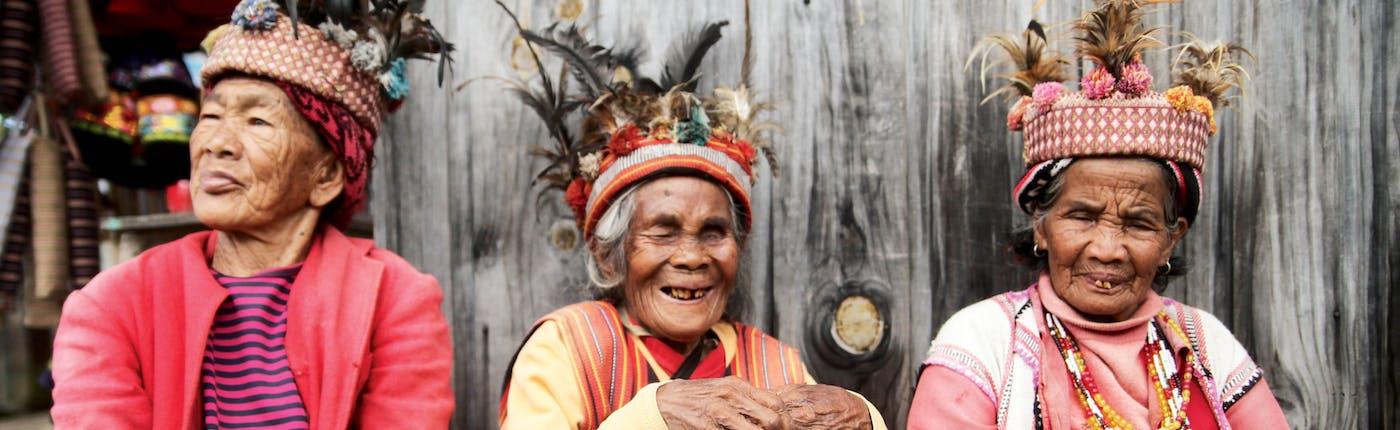 Smiling Ifugao ladies in Banaue