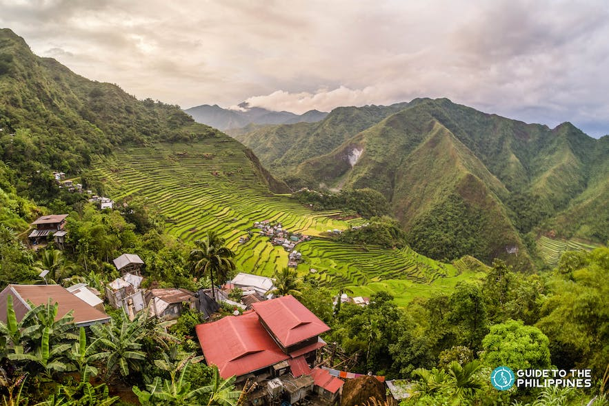 Local houses at Batad Rice Terraces in Banaue