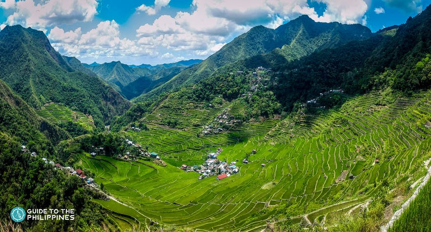 Amphiteater-like Batad Rice Terraces in Banaue