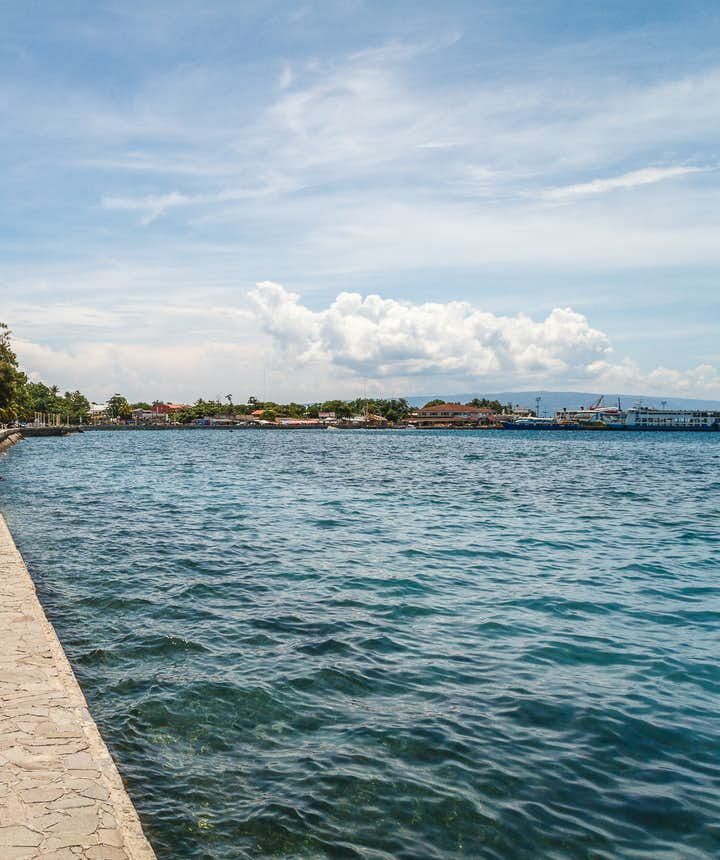 Shore side of Roxas boulevard in Dumaguete