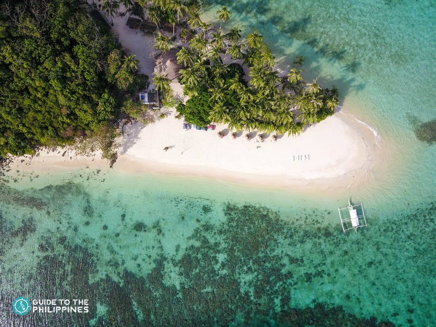 Aerial view of Port Barton in Palawan