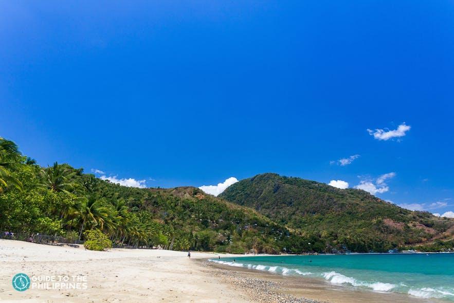 Quiet beach of Aninuan Beach Resort
