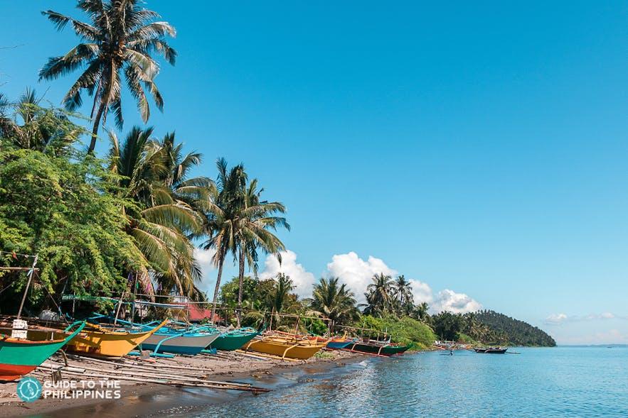 Boats for Island-hopping near Puerto Galera