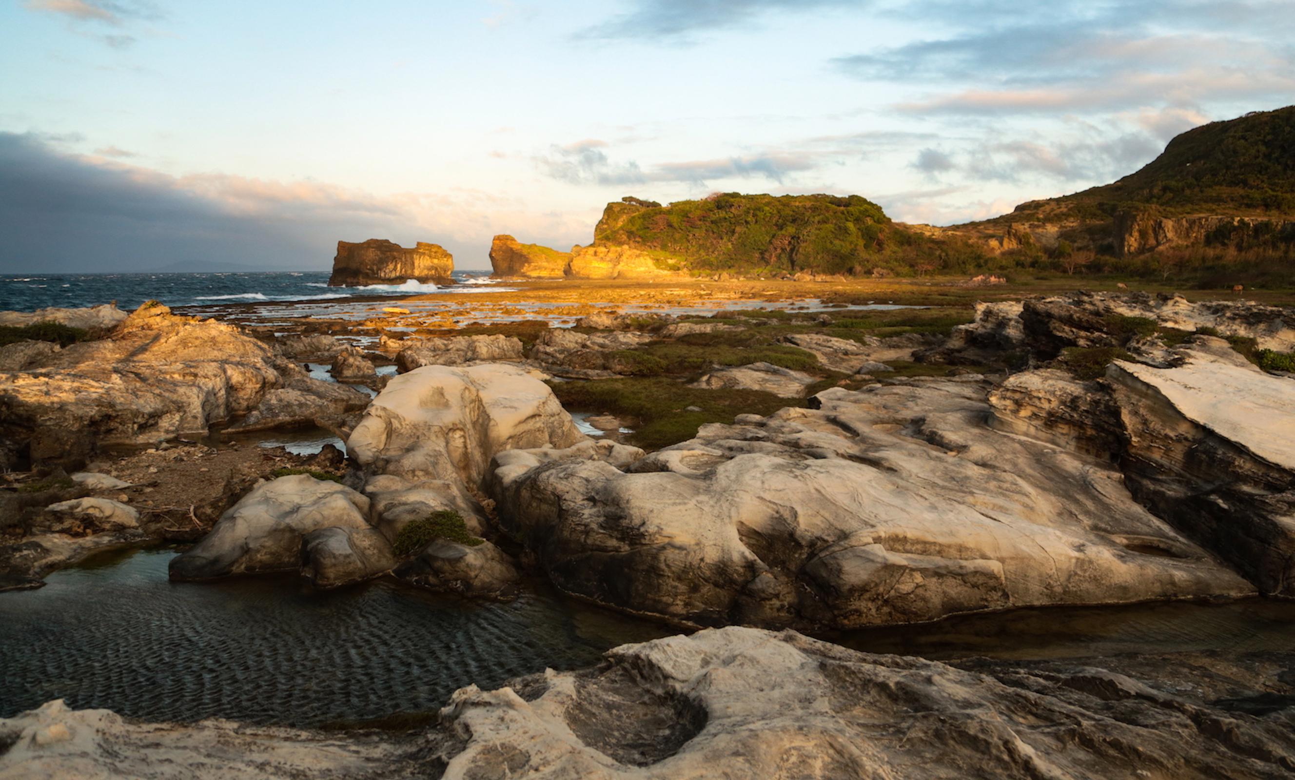 Kapurpurawan Rock Formation during sunrise