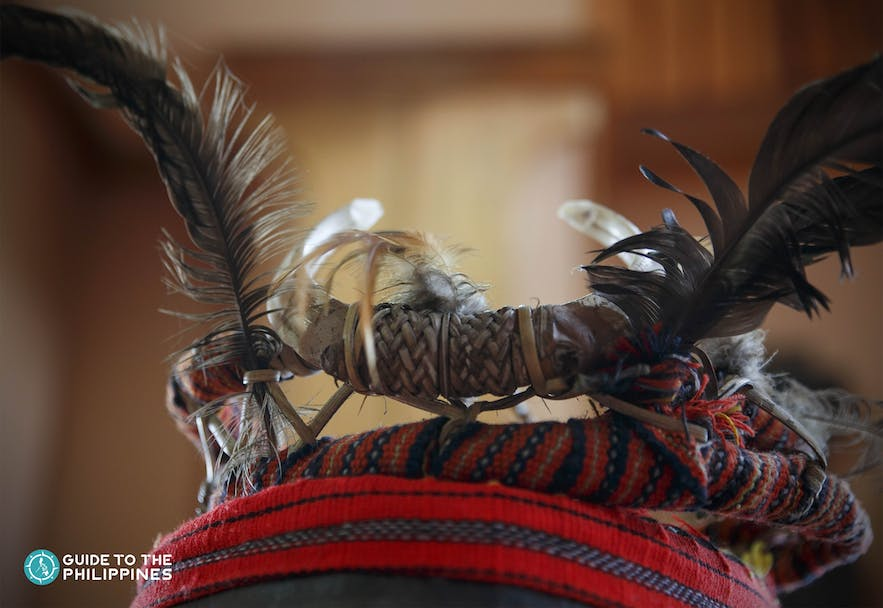 Ifugao feather headdress at Banaue Museum