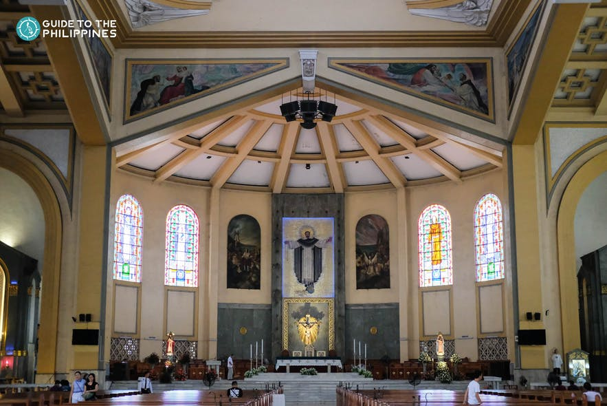 Altar in the Santo Domingo Church, Quezon City
